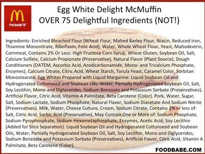 What's in that fast food egg white sandwich