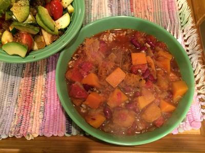 Squash and kidney beqn stew