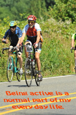 Older athletes have a young fitness age